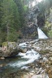 Reinbachfalle siklawa & x28; Riva& x27; s waterfall& x29; przy campo tures, SudTy Zdjęcia Stock