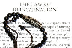 Reincarnation. The law of Reincarnation concept- for many religion uses stock photos