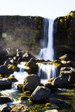Reincarnation. This is a beautiful waterfal in pingvellir in iceland royalty free stock photography