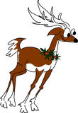 Reindeer 1. Frederick the be-bop reindeer is ready to boogie stock illustration
