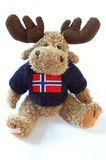 Reindeer. Typical souvenir from Norway - reindeer with flag Stock Photography