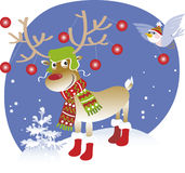 Reindeer. Vector illustration of decorated reindeer Royalty Free Stock Image