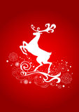 Reindeer. Graceful Reindeer on the Red Background. Vector illustration can be scale to any size Royalty Free Stock Photos