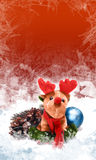 Reindeer. New Year's greeting card with Santa Claus reindeer Stock Photo