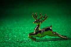 Reindeer. Reindeer on green , Christmas background Stock Photography