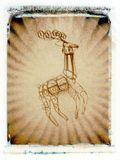 Reindeer. Polaroid transfer of reindeer ornament Stock Photos