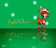 Reindeer. Santa's reindeer joyful christmas Stock Photos