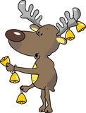 Reindeer. Vector illustration of an reindeer with bells Stock Photography