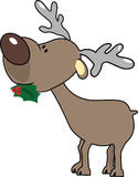 Reindeer. Illustration of an reindeer while he's eating the mistletoe Stock Image