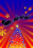 Reindeer And Xmas Tree Royalty Free Stock Photos