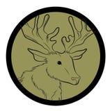 Reindeer Animal Face Closeup Vector Royalty Free Stock Photo