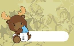 Reindeer baby cartoon. Background in vector format royalty free illustration