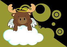 Reindeer baby cute angel cartoon background Stock Images