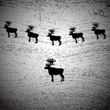 Reindeer background Royalty Free Stock Photos