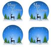 Reindeer Backgrounds 2 Royalty Free Stock Photos