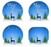 Reindeer Backgrounds 2 Royalty Free Stock Photos