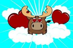Reindeer ball cute cartoon background9 Stock Photo