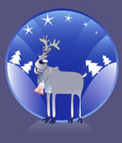 Reindeer with bell. Royalty Free Stock Photo