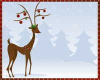 Reindeer In Bells Royalty Free Stock Images