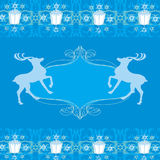 Reindeer blue design Royalty Free Stock Image