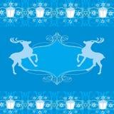 Reindeer blue design Royalty Free Stock Image