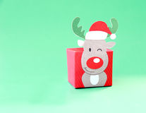 Reindeer box decoration made of paper Royalty Free Stock Images
