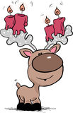 Reindeer with candles. Vector illustration of an reindeer with candles on his horns Royalty Free Stock Photography
