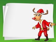 Reindeer card Stock Image
