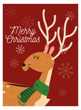 Reindeer cartoon of Christmas design Royalty Free Stock Photo