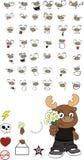 Reindeer cartoon expressions set love Stock Photography