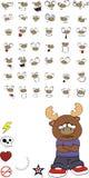 Reindeer cartoon expressions set sad Royalty Free Stock Photos