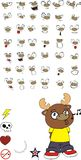 Reindeer cartoon expressions set sing Stock Photos