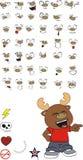 Reindeer cartoon expressions set Royalty Free Stock Photo