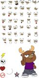 Reindeer cartoon expressions set2 Stock Image
