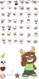 Reindeer cartoon expressions set3 Stock Photography