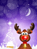 Reindeer cartoon Stock Photography