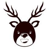 Reindeer cartoon of Merry Christmas Stock Photo