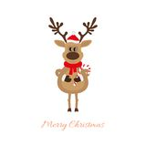 Reindeer of Christmas with caramel cane Stock Photography