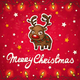 Reindeer Christmas card Stock Images