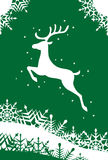 Reindeer Christmas card illustration Stock Photography
