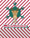 Reindeer christmas card Stock Photos