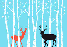 Reindeer Christmas card, vector Royalty Free Stock Image