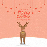 Reindeer (Christmas Cards). Vector illustration of a reindeer. (Christmas Cards Stock Photography
