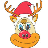 Reindeer Christmas cartoon Stock Photos