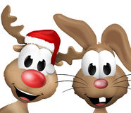 Reindeer Christmas Cute Animal. 3d graphic illustration design Stock Photography