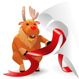 Reindeer Christmas illustrations Royalty Free Stock Photo