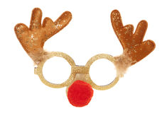 Reindeer christmas party mask Royalty Free Stock Image