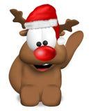 Reindeer Christmas red Royalty Free Stock Image