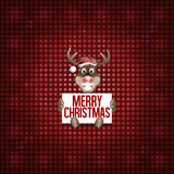 Reindeer Christmas red fresh cute design Royalty Free Stock Photos