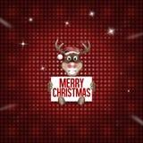 Reindeer Christmas red fresh cute design Stock Photo